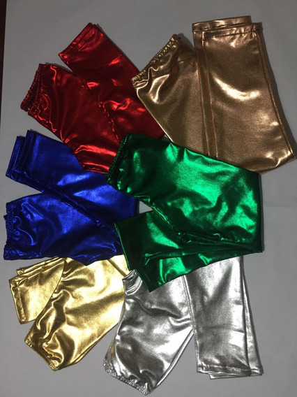 Leggins Metalizadas Para Niñas Todos Los Colores
