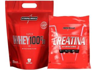 Creatina Micronized 1kg + Whey 100% 1,8kg - Integral Medica