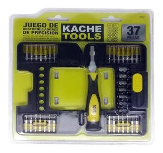 Juego Destornilladores Precision 37 Pzas Kache Tools Sk137 U