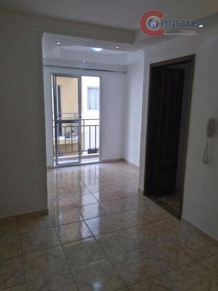 Apartamento Com 2 Dormitórios Para Alugar, 57 M² Por R$ 1.050,00/mês - Picanco - Guarulhos/sp - Ap4225