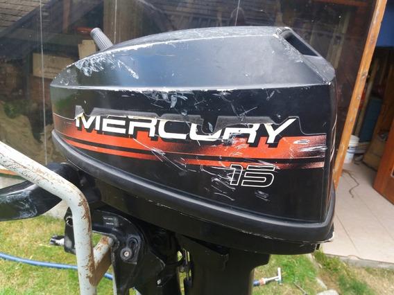Mercury 15 Hp Pata Larga Excelent Estado Comando En El Puño