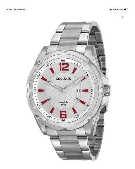 Relógio Seculus Masculino Long Life - 20577g0svna2