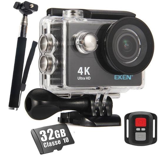 Camera Esportiva Eken H9r Original 4k 32gb Bastao Wifi Full