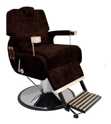 Cadeira Barbeiro Base Cromado Sevilha Reclinável - Marri