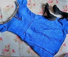 Vestido Com Pedrarias Feminino