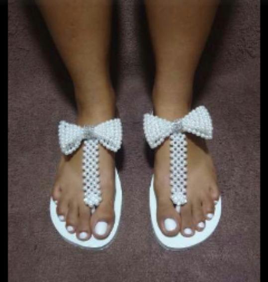 Sandálias Personalizadas Com Pérolas