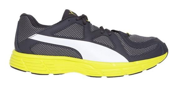 Tenis Puma Axis V3 Mesh Gris/amarillo Talla #25½ Hombre Psd