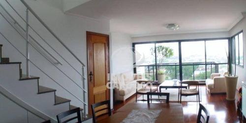 Cobertura Com 4 Dormitórios À Venda, 297 M² Por R$ 2.000.000,00 - Alto Da Lapa - São Paulo/sp - Co0015