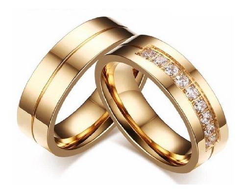 Imagen 1 de 4 de Anillos De Matrimonio 18k iPhone Regalo Aros Joyas Regalo