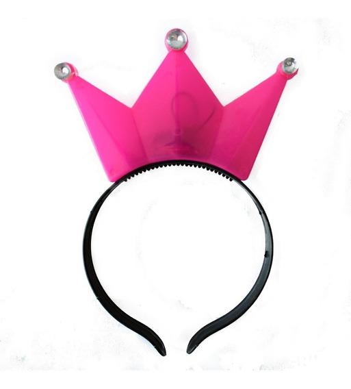 25 Coronas Luminosas Luz Led Diadema Princesa Rosa