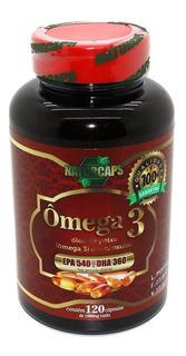 Omega 3 Oleo De Peixe 1000mg - Naturcaps - 120 Capsulas