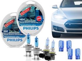 Kit Lâmpadas H4 + Hb4 Philips Crystal Vision Ultra 4300k