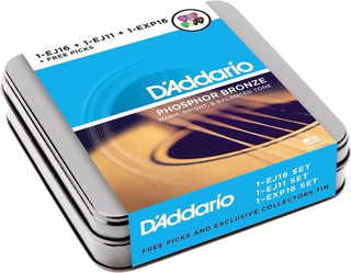 Kit 3 Sets Cuerdas Guitarra Acustica + Plumillas D