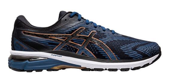 Zapatillas Hombre Asics Gt-2000 8 Negro/azul - Running
