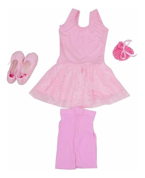 Ballet Roupa Kit Para Aulas De Bale Infantil Completo