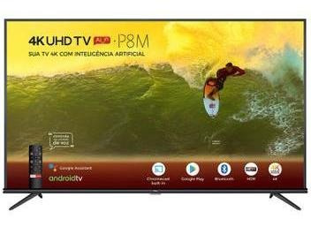 Smart Tv 4k Led 50 Semp Tcl 50p8mandroid Wi-fi Bluetooth