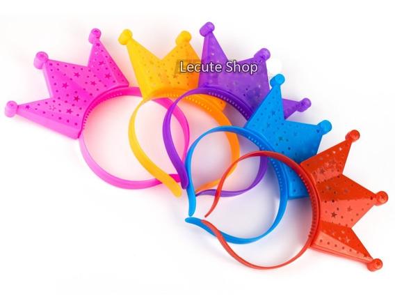 10 Coronas Luminosa Led Diadema Rey Tiara Luz Reina Princesa