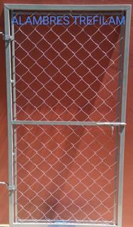 Puerta De Caño Y Alambre Tejido 0,80 X 1,50 Mts