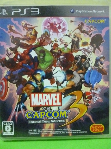Marvel Vs Capcom 3 Fate Of Two Worlds Ps3 Mídia Física