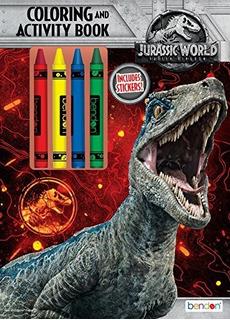 Bendon Jurassic World Playset, Libro De Colorear Y Actividad