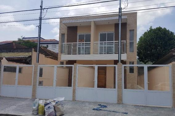 Casa Em Vila São Jorge, São Vicente/sp De 82m² 3 Quartos À Venda Por R$ 340.000,00 - Ca326728