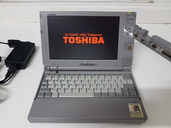 Raridade Retro Pc Toshiba Libretto 100ct Impecável