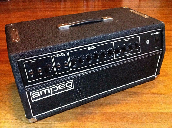 Ampeg Svt-200t Made In Usa 350w Bass Amp Head 1984´