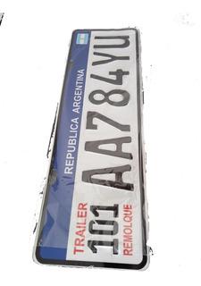 Patente Para Trailer 101 Argentina Chapa Relieve Urgente!!!