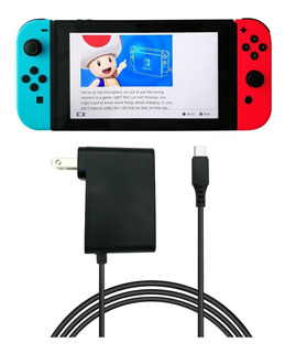 Consola Nintendo Switch Accesorio Cargador Original: Jugá Con La Tv Mientras Carga