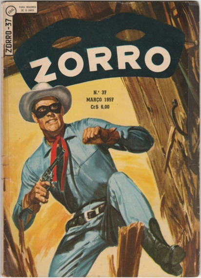 Zorro -n.°37 Março 1957 Editora Ebal