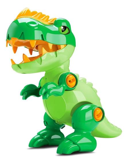 Brinquedo Didático Dinossauro Toy Rex Com Som E Chave