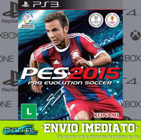 Pro Evolution Soccer 2015 Ps3 Midia Digital Em 10 Min!