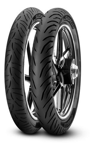 Cubiertas 80 100 18 + 90 90 18 Pirelli Super City S/cam. Mg