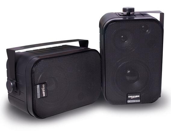 Par De Caixa De Som Acústica Sp400 60w Rms Cada Caixa Preta