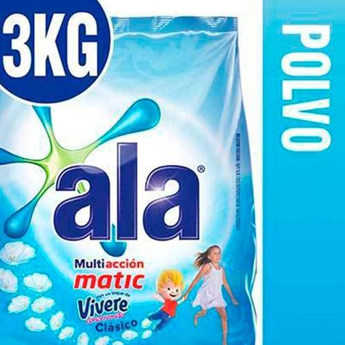Jabon En Polvo Ala Matic Multiaccion Con Vivere Bolsa 3 K