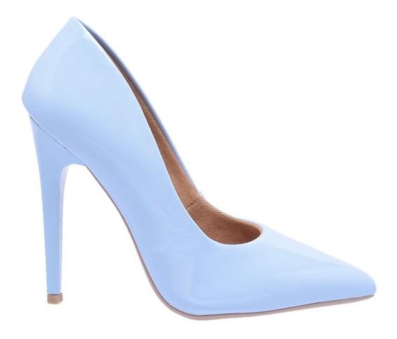 Sapato Scarpin Feminino Bico Fino Salto Alto 11 Cm Verniz