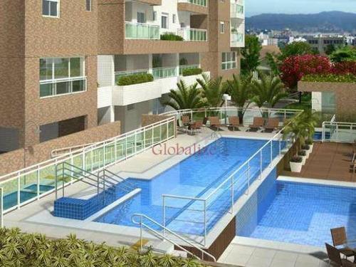 Apartamento Com 3 Dormitórios À Venda, 87 M² Por R$ 589.000,00 - Macuco - Santos/sp - Ap0125