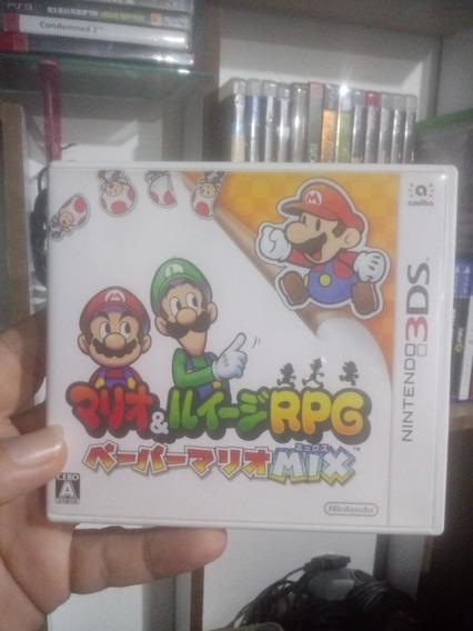 Mario E Luigi Papel Jam Bros Nintendo 3ds