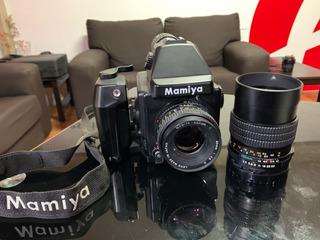 Cámara Mamiya 645e Con 2 Lentes Sekor 80mm 2.8 Y 150mm 3.5