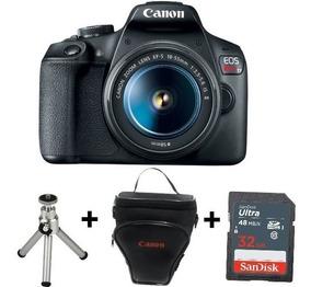 Câmera Canon Eos Rebel T7 - 18-55mm +sd 32gb+bolsa+minitripé