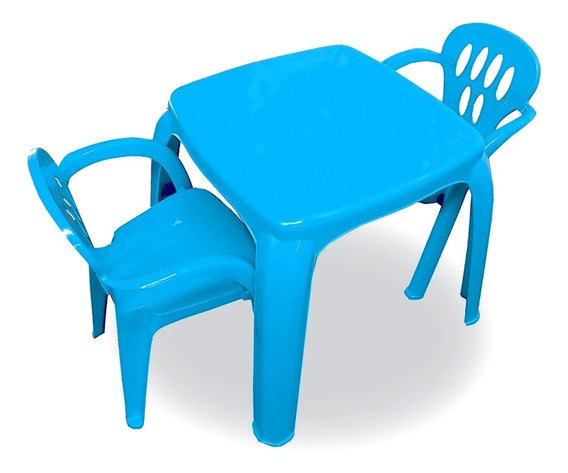 Kit 01 Mesa Mesinha Infantil Com 02 Cadeira