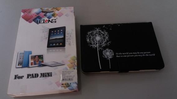 Capa Case iPad Mini Preta Com Frase Escrita