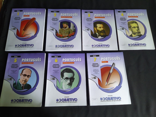 7 Apostilas Objetivo Língua Portuguesa (vestibular, Enem)