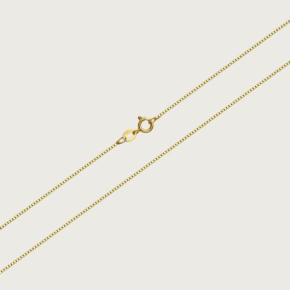 Cordão Veneziano Em Ouro 18k - 50cm