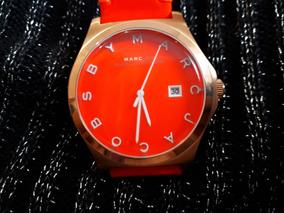 Relógio Unissex Original Marc Jacobs Dourado E Laranja