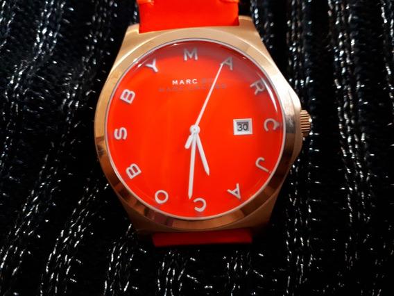 Relógio Original Marc Jacobs Dourado E Laranja