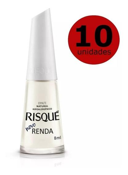 Kit 10 Esmalte Risqué Novo Renda Atacado
