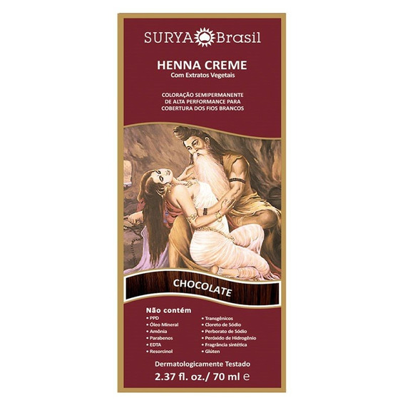 Tintura Creme Henna Surya Chocolate Surya