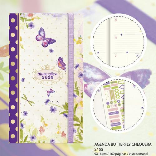 Imagen 1 de 6 de Agenda 2020 Butterfly Chequera Envío Gratis Lima