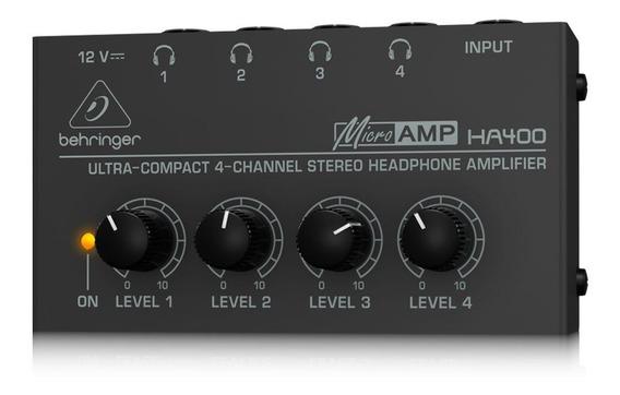 Amplificador Fone Power Click Behringer Ha400 Micro Amp